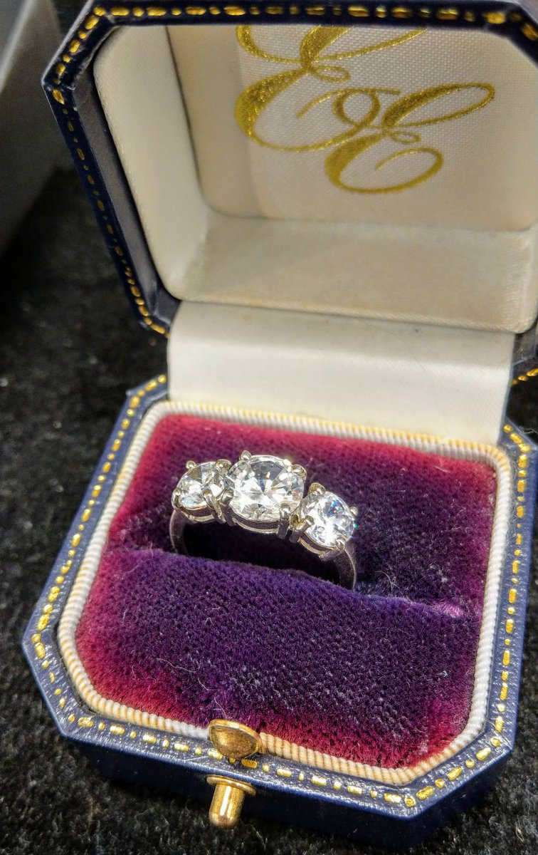 Many of our rings come with their beautiful original cases. #LoveTheBarbican #MoreInStore