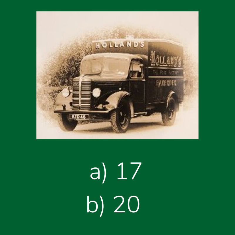 Can you guess how many delivery vans we had back in 1938? Reply to let us know.