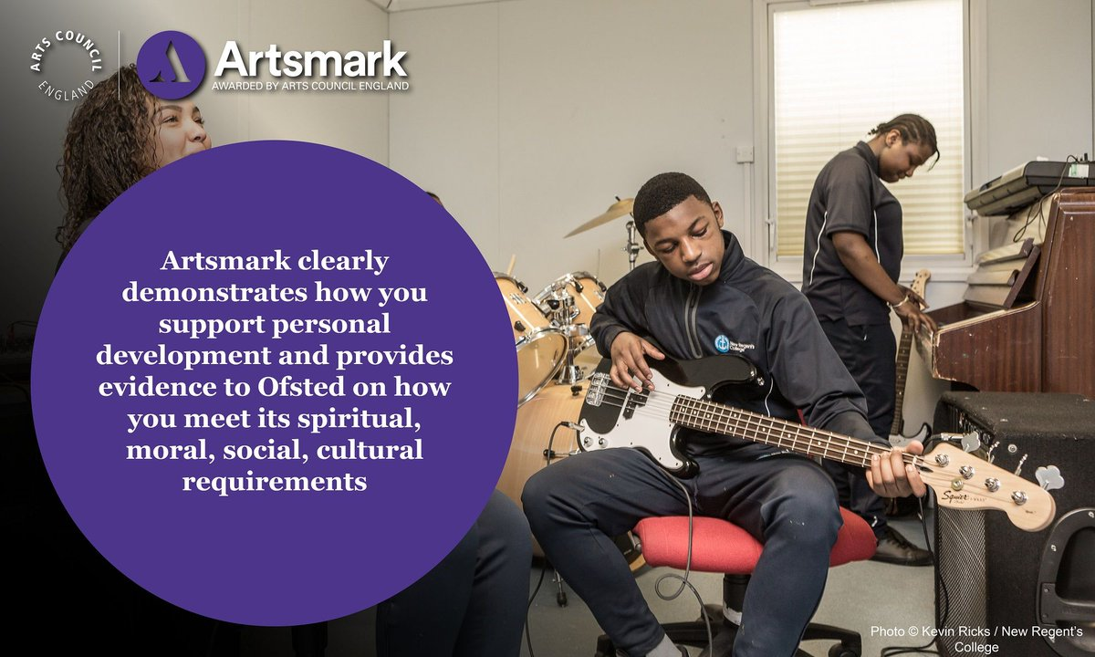 Here's our third @Artsmarkaward and @Ofstednews fact of the day... #CelebrateArtsmark