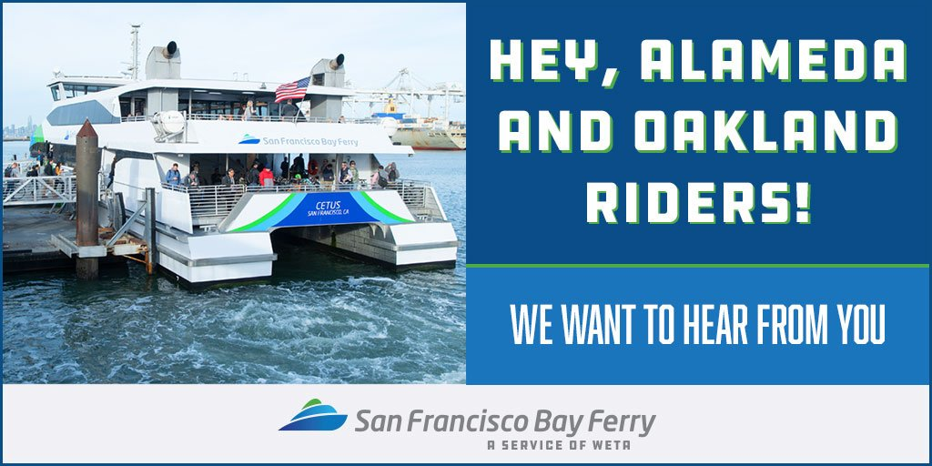 San Francisco Bay Ferry On Twitter Alameda And Oakland