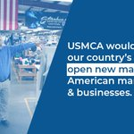 Image for the Tweet beginning: USMCA would be a big