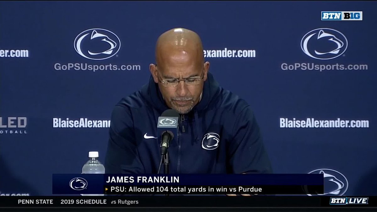 The football that I know and love brings people together, and embraces differences. @coachjfranklin opened his weekly @PennStateFball press conference by addressing the letter Jonathan Sutherland received from a fan.