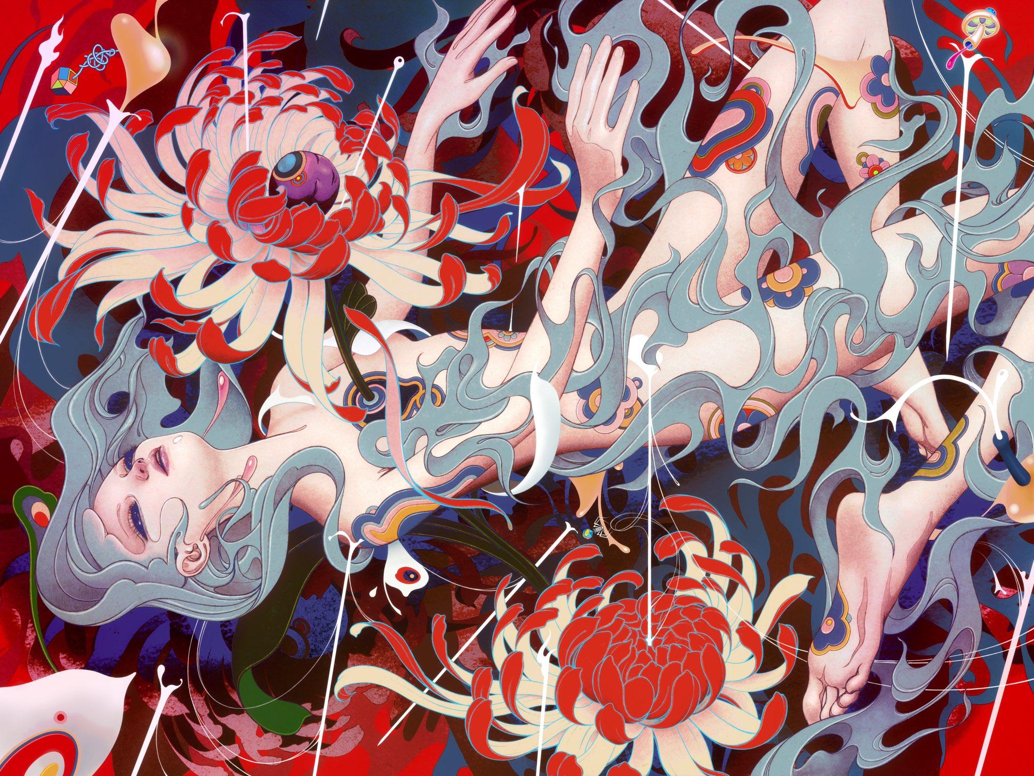 James Jean On Twitter Chrysanthemum Digital 6000x4500