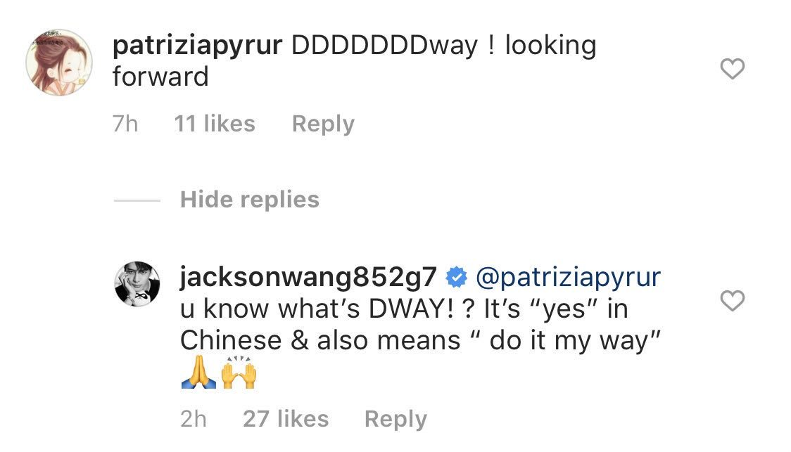 Okaayy! He saw what we were talking about   #JacksonWang  #JacksonWang1stAlbum <br>http://pic.twitter.com/eMZ8dAlcTG