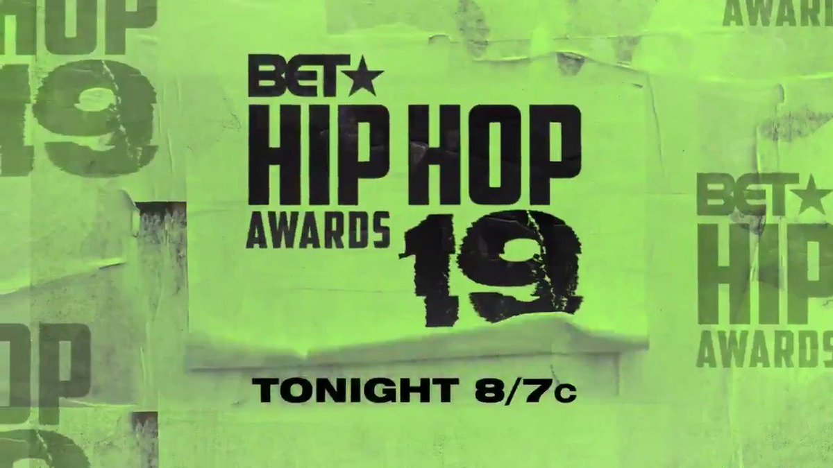 Grab a snack because the 2019 #HipHopAwards begin tonight at 8/7c on @BET. #spon