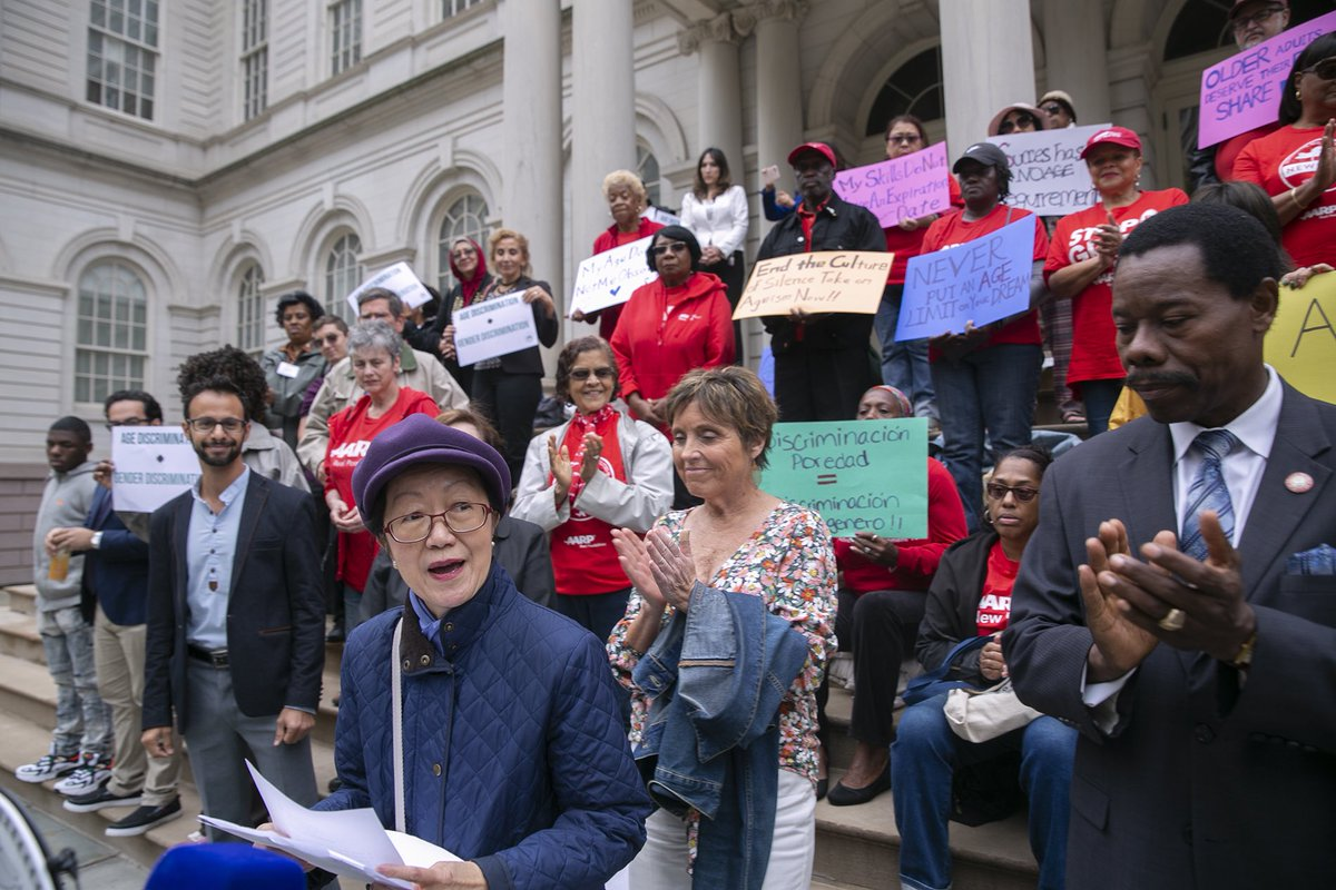 Council Members @CM_MargaretChin and @CMMathieuEugene join age justice advocates and aging New Yorkers for a rally at City Hall.
