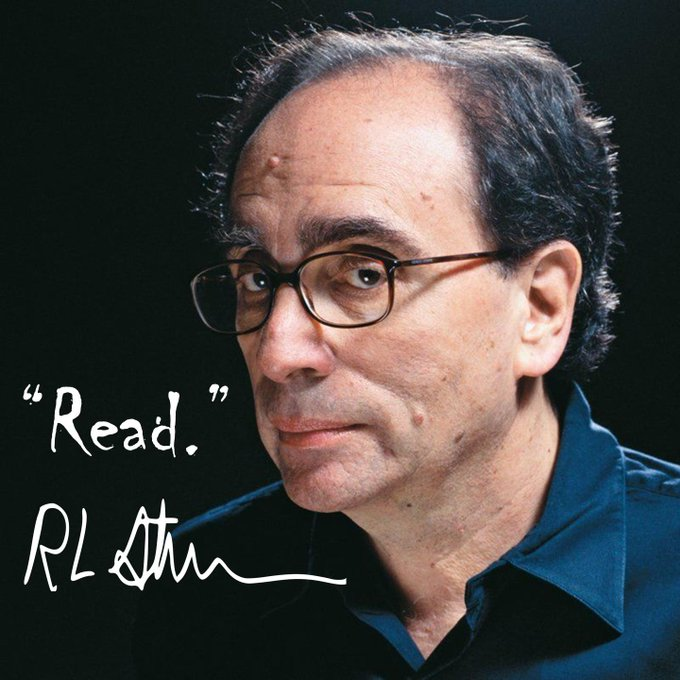 Happy Birthday, R.L. Stine! Thanks for all the... goosebumps. GET IT?!