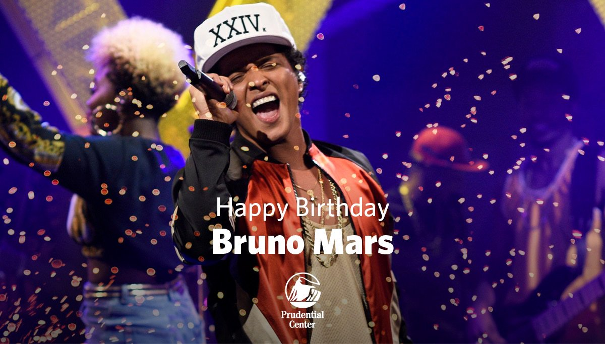 🎂 Happy Birthday to past #PruPerformer, @BrunoMars! 🎂