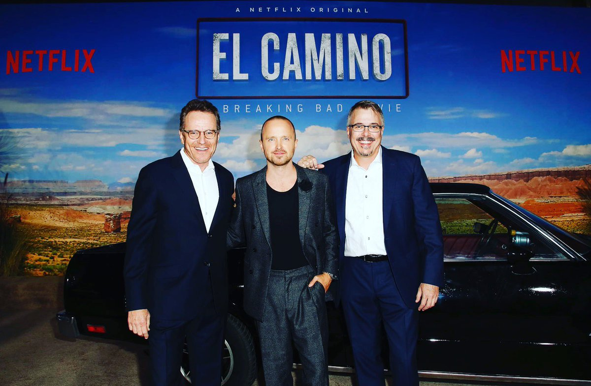 World premiere last night of El Camino! First time I've seen it - but it won't be the last. Aaron is SO damn good in it! And Vince Gilligan is just a genius. Breaking Bad fans will love this story of 'what happened to Jesse?' Go see it this weekend!
