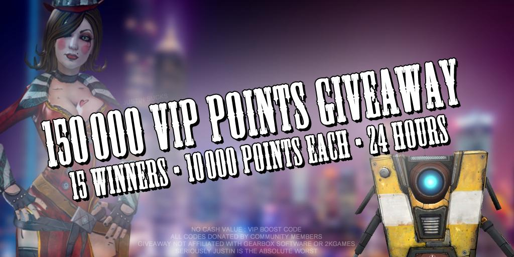 NOT A SHiFT CODE  Now that we have that out of the way, are you still chasing some of those VIP Rewards or hoarding points?  I've got 150,000 VIP Points to give away in the form of Boost Codes donated by the community  15 WINNERS : 24 HOURS 10,000 POINTS EACH RETWEET TO ENTER https://t.co/3Kan9dc1t2