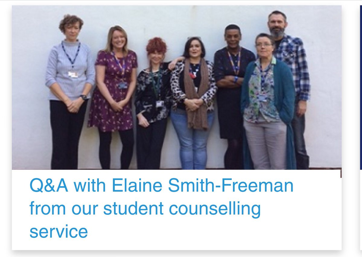 As we approach #WorldMentalHealthDay2019 on Thursday, we talk with Elaine Smith-Freeman from our @LJMUsaw student counselling service. We find out more about the service and how students can get help from the team. #WMHD2019 ljmu.ac.uk/about-us/news/…
