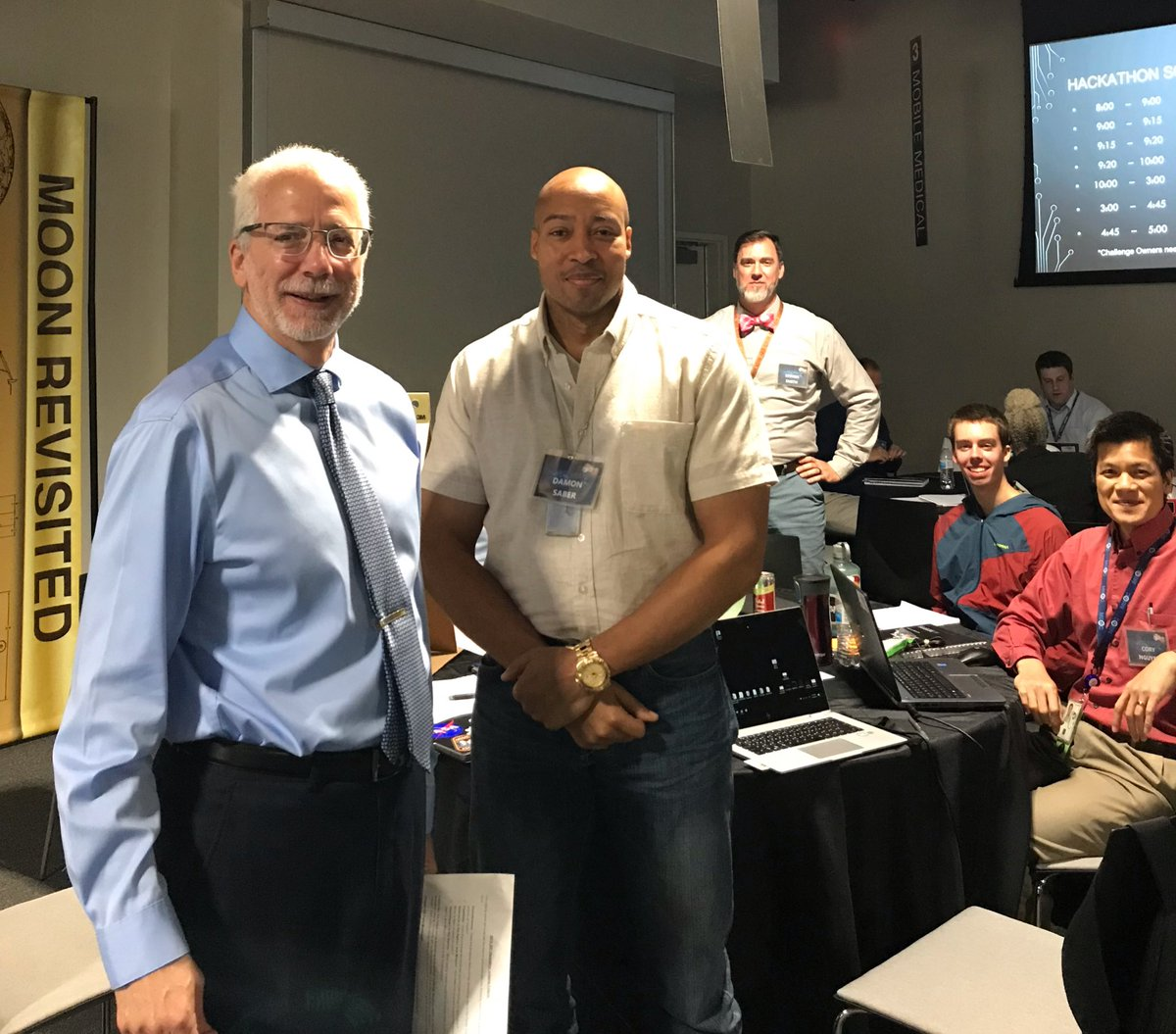 Innovation and team work on full display at #JSCHackathon2019. Sponsored by @NASA_Johnson Emerge ERG. Who will be the winner? @DirectorMarkG looks ready to judge.