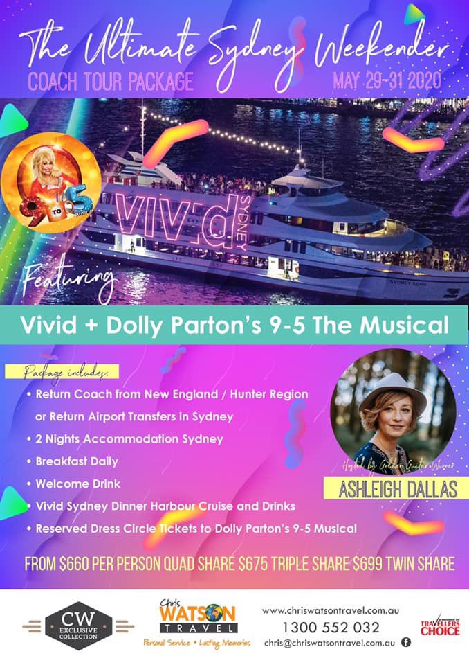 Working 9-5 what a way to make a living! Well let's get our loudest voices on and join me on the Ultimate Sydney Weekender with Vivid Harbour Cruise and a night out @DollyParton Musical 9-5. Contact #ChrisWatsonTravel on 1300 552 032 to book today https://t.co/t3TRRziPoZ