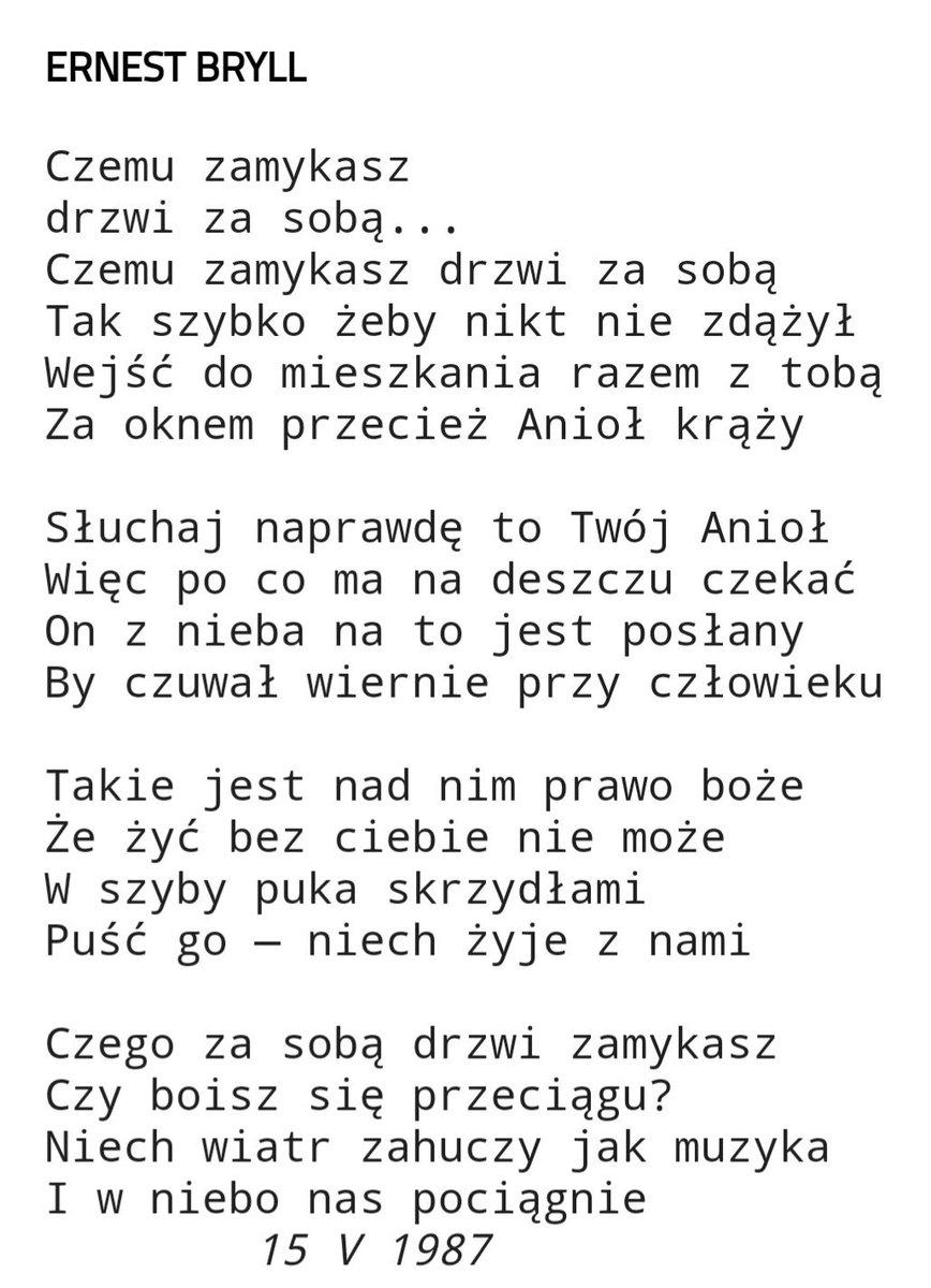 Joanna Modzelewska Su Twitter Wiersz Od śp Darka Szpinety