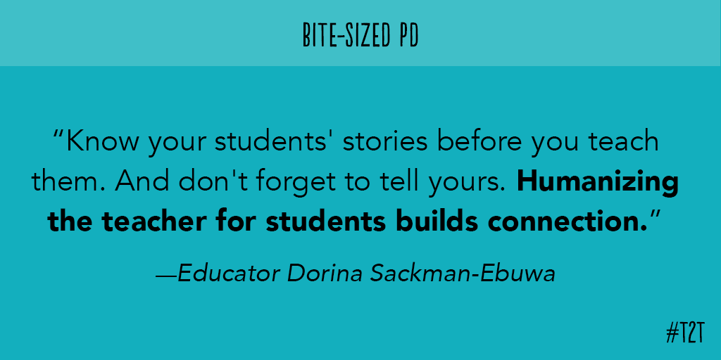 Sharing is a two-way street, reminds educator @Dorina_BELIEVE! #ChampForKids #BiteSizedPD