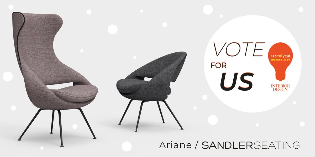 🚨Attention! Attention! 🚨 Voting has officially begun for @InteriorDesign's #BOYAwards. If you find yourself bored while scrolling through your twitter feed, click the link below and vote #SandlerSeating.   #fingerscrossed 🤞  https://t.co/d1nR3ZTaMQ