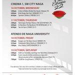 Image for the Tweet beginning: Cine Europa 22 Screening Schedule October