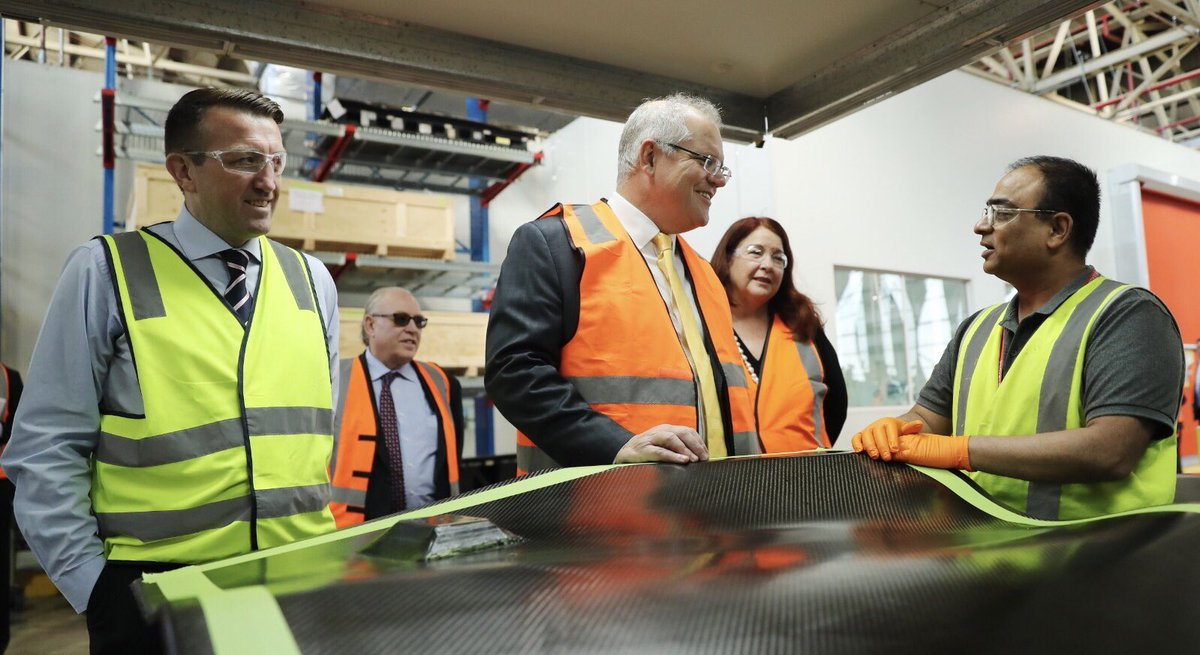 Jobs, jobs, jobs. That's what today's official opening of Quickstep Technologies advanced manufacturing facility in Bankstown, NSW was all about. Quickstep is part of the global team building the Joint Strike Fighters, accounting for around US$250,000 of what is on every jet.