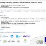 Image for the Tweet beginning: Kiinnostaako vihreämpi liikenne ja logistiikka