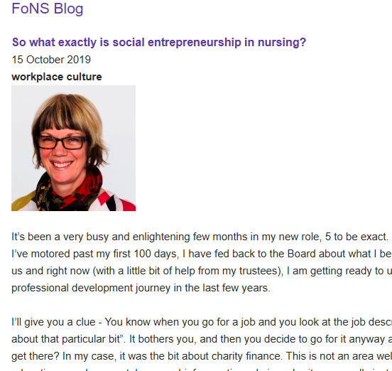In this weeks FoNS Blog, Chief Exec @MrsBosanquet asks So what exactly is social entrepreneurship in nursing? fons.org/common-room/bl… #FutureofWork @GregAllenUK @JeremyScrivens @DrDavidFoster @Impmister @misssdjohnson @DrTheresaShaw