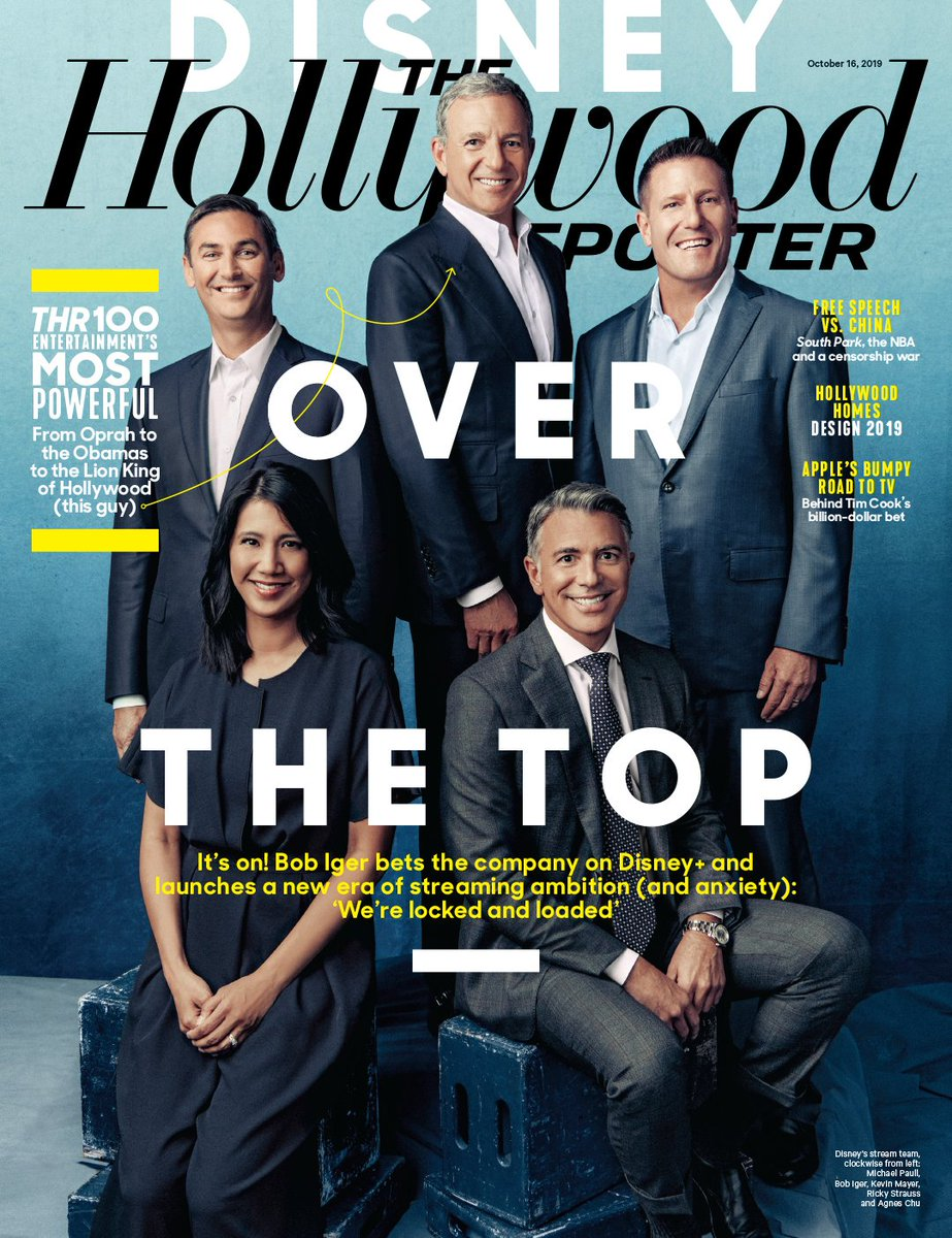 THR Cover: Disney over the top – Bob Iger bets the company (and Hollywood's future) on streaming