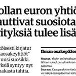 Image for the Tweet beginning: Viime hallituskauden pitkäjänteinen norminpurkutyö niittää