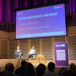 Day 2 at #NVF19. Tom Rogers, chairman at @Captify discusses the new global TV landscape with @vinnyflood