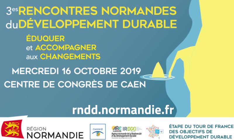 La Région Normandie, le Comité 21 et l'Agence normande de la Biodiversité et du #développementdurable organisent aujourd'hui les 3e Rencontres normandes du développement durable au Centre de Congrès de Caen.#Normandie #Développementdurable https://t.co/nZjmOCogCk