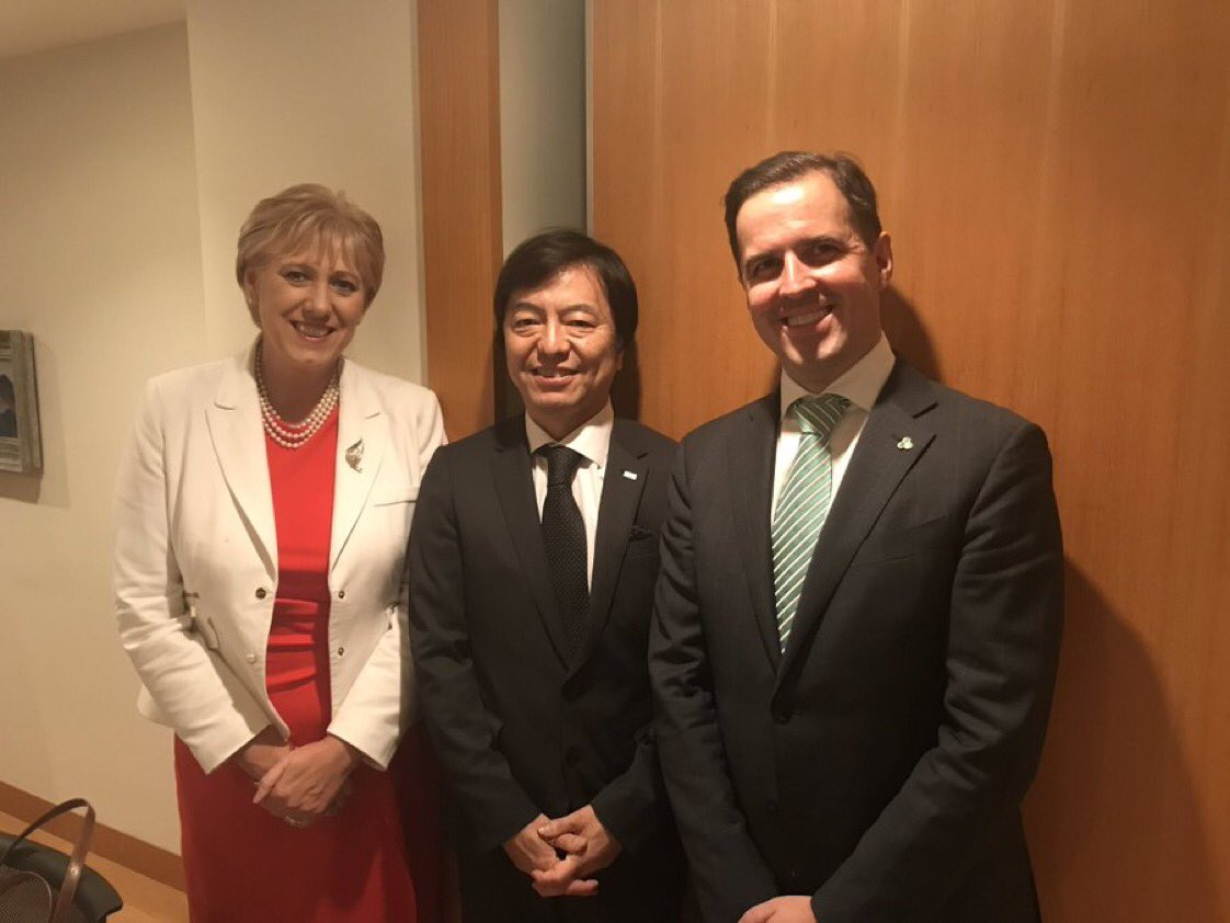 Our CEO @MartinDShanahan and @HHumphreysFG met with #AlpsElectric in Tokyo, one of Japan's largest and longest established Investors in Ireland. The company celebrated 30 years in Ireland last year.