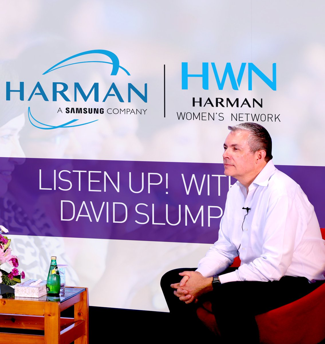 """HARMAN Connected Services welcomed President David Slump with a power-packed session of """"Listen Up!""""- Part of a series of informal networking events with leaders and our women colleagues across offices. Know more- https://t.co/rKYgWkISPN #HWN #HARMAN https://t.co/Yneb2wN1iz"""