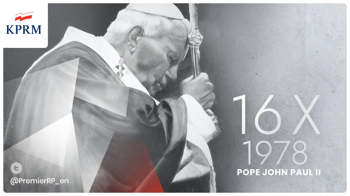 #OTD  in 1978 cardinal Karol Wojtyła was elected pope and adopted the name of John Paul II. He contributed towards the end of Communist rule in Poland, and in all of Europe. He significantly improved Catholic Churchs relations with Judaism, Islam and the Eastern Orthodox Church.