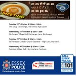 Image for the Tweet beginning: Upcoming #CoffeewithCops with @EPUttlesford for the