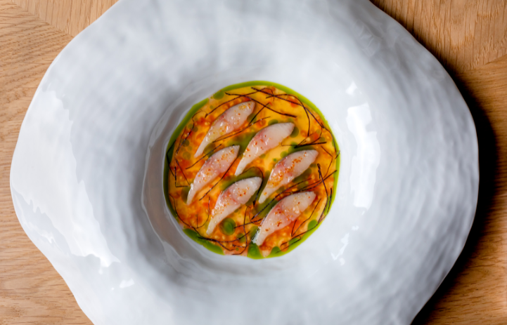 A flavour of @HeleneDarroze's new menu, new at @TheConnaught https://t.co/x6Cfw2xcUO