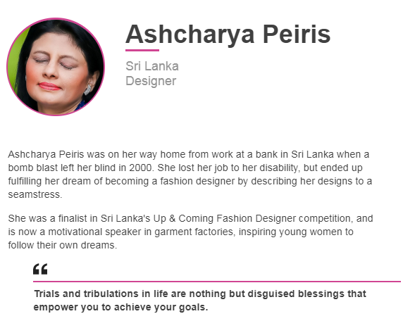 Azzam Ameen On Twitter The Bbc Has Revealed Its List Of 100 Inspiring And Influential Women From Around The World For 2019 Sri Lankan Designer Ashcharya Peiris Is Among Them Bomb