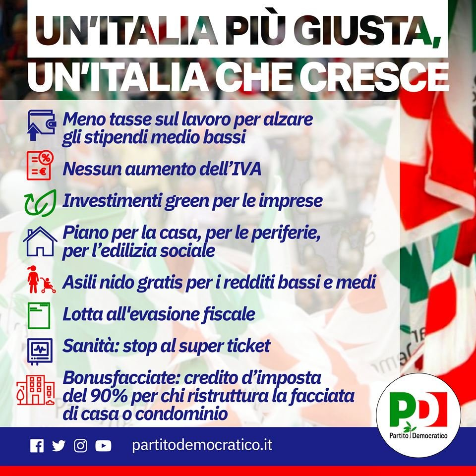 """Alzare Un Piano Casa nicola zingaretti på twitter: """"per noi un'italia più giusta"""
