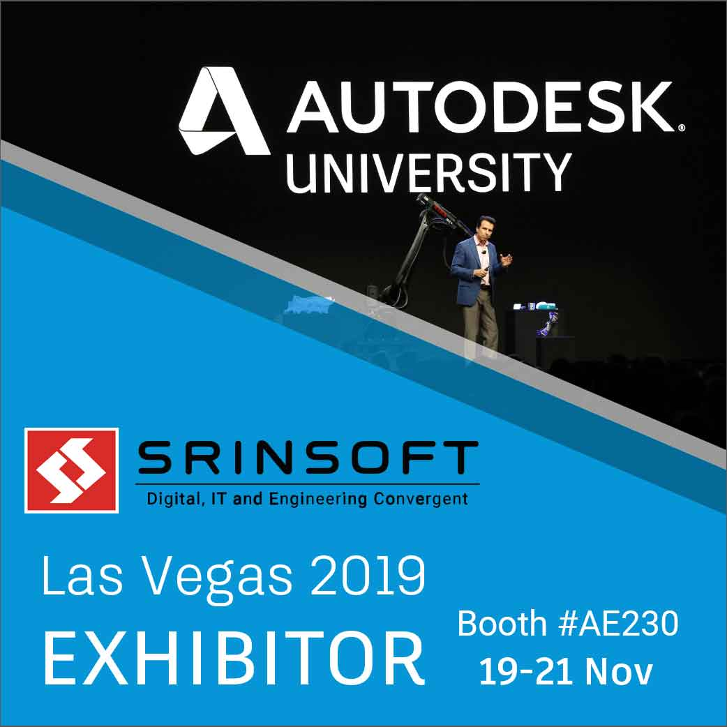@SrinSofttech will be at #AU2019 #Las_Vegas this year... will you? Come by SrinSoft's booth #AE230 and witness the World-class @BIMDeXSolutions CAD-BIM Interoperability Solutions #autodesk #cad #bim #autodeskuniversity #Interoperability #BIMDeX @autodesku @autodesk @ADSKCommunitypic.twitter.com/0UFtho9NAF