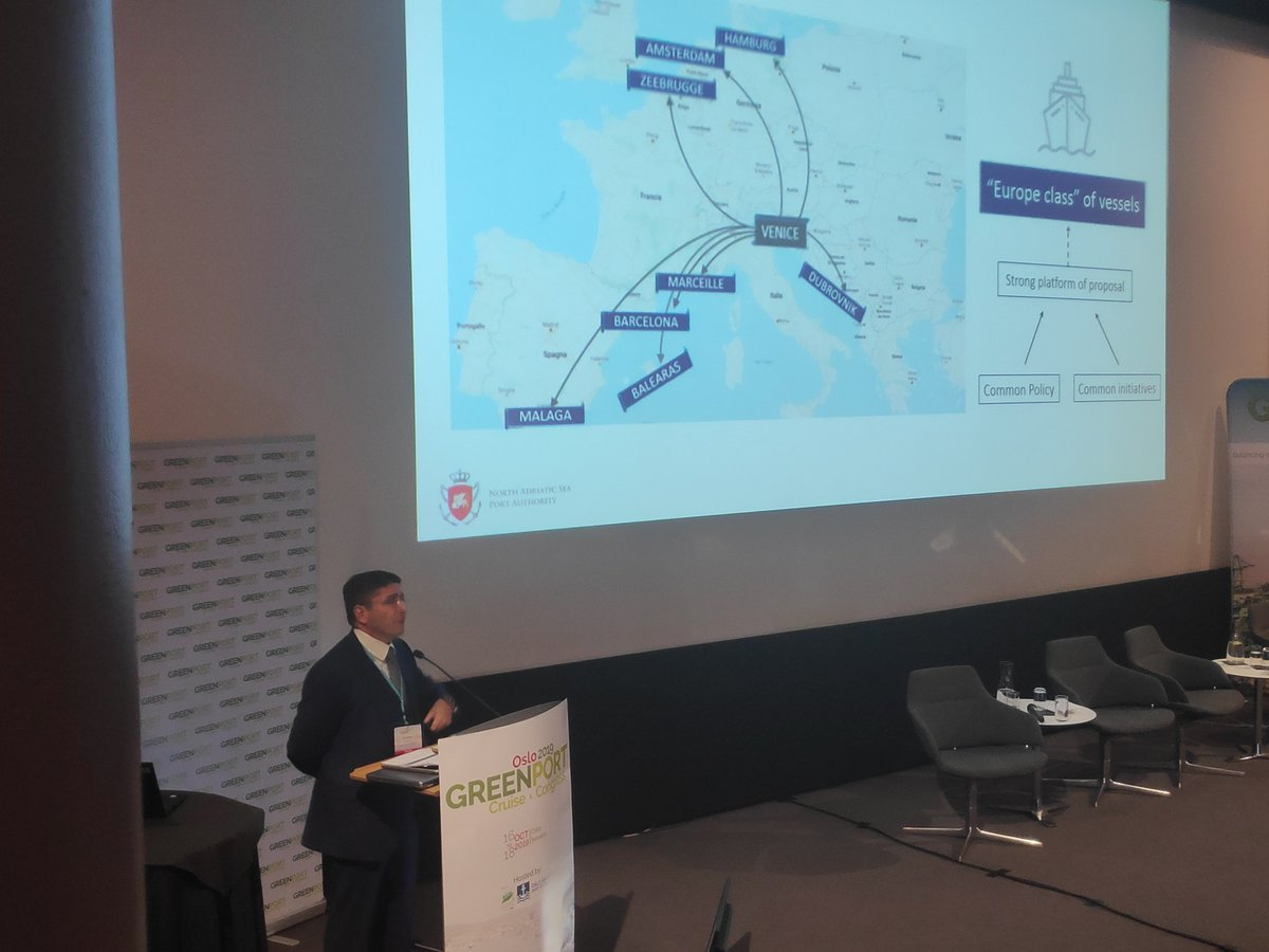 In the European port cities, where the cruise terminals lie literally inside the main towns or immediately nearby, there is an issue related with #overcrowding, to #urban #mobility, to the impacts in terms of #pollution, #emissions, #wastemanagment, #supllychain #GPCongress<br>http://pic.twitter.com/JfdksTK3Up