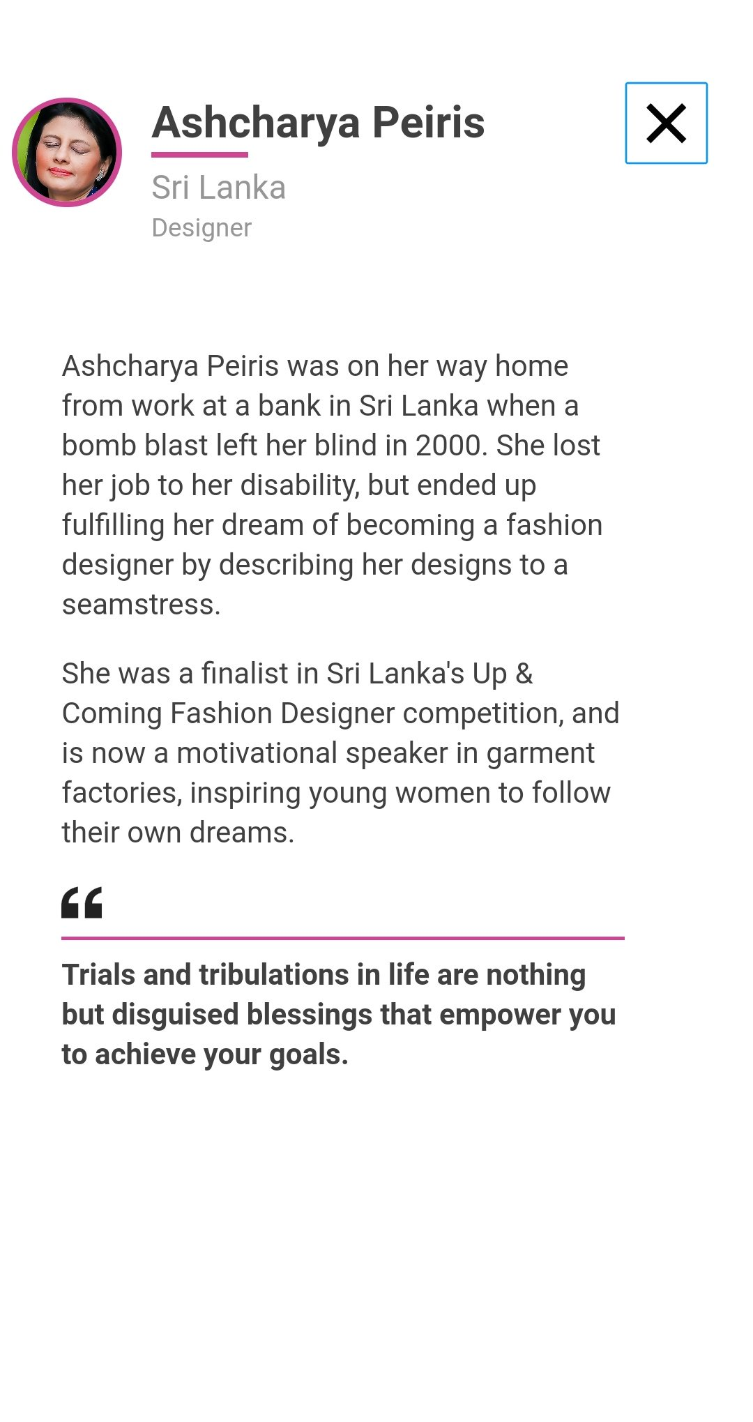 Inshaf Caffoor On Twitter Was Delighted To See The Name Of A Sri Lankan In The Top 100 But Was Awestruck To Hear Her Story Amazing Read Https T Co Kjcm8apj25 Lka Https T Co Qrw6s8avei