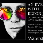 Image for the Tweet beginning: An Evening with Elton at
