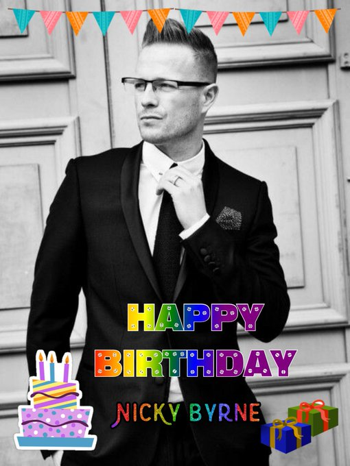 Happy Birthday Mr. Nicky Byrne!      From the Philippines.