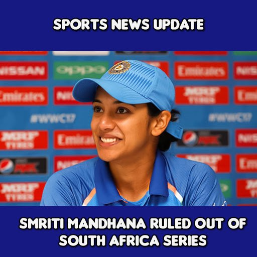 Smriti Mandhana ruled out of south africa series  . . .  #Tentaran #SmritiMandhana #Cricket #Cricket #INDWvSAW #INDvSA #CricketLife <br>http://pic.twitter.com/sK8UEo8Iih