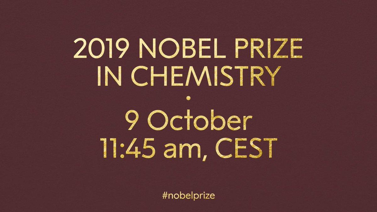 @NobelPrize's photo on nobel prize in chemistry