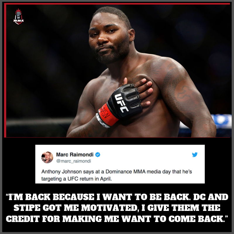 .@Anthony_Rumble shares timeframe for .@ufc  return.  Who would you like to see him fight in his return?  📸 credits: .@PunditArena  .@ufc #mma #ufc #Rumblejohnson #Heavyweight