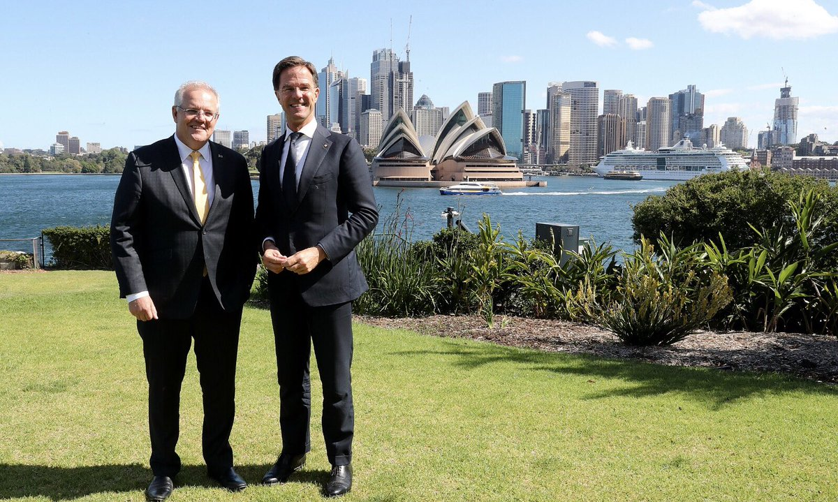 Today Australia & the Netherlands reaffirmed our commitment to never stop seeking justice for the MH17 victims & their loved ones. Our two countries enjoy a deep friendship & it was great to catch up with my friend Prime Minister Mark Rutte today to reinforce that commitment.