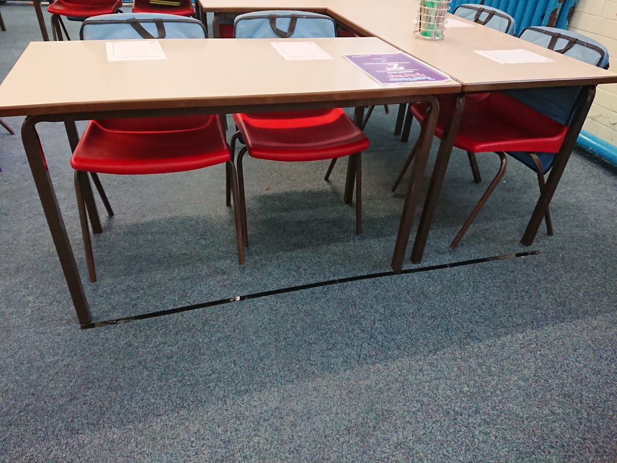 Am I a control freak for putting tape lines on my floor to stop my tables from migrating across the room?... #edutwitter #education<br>http://pic.twitter.com/GBb7PfMZso