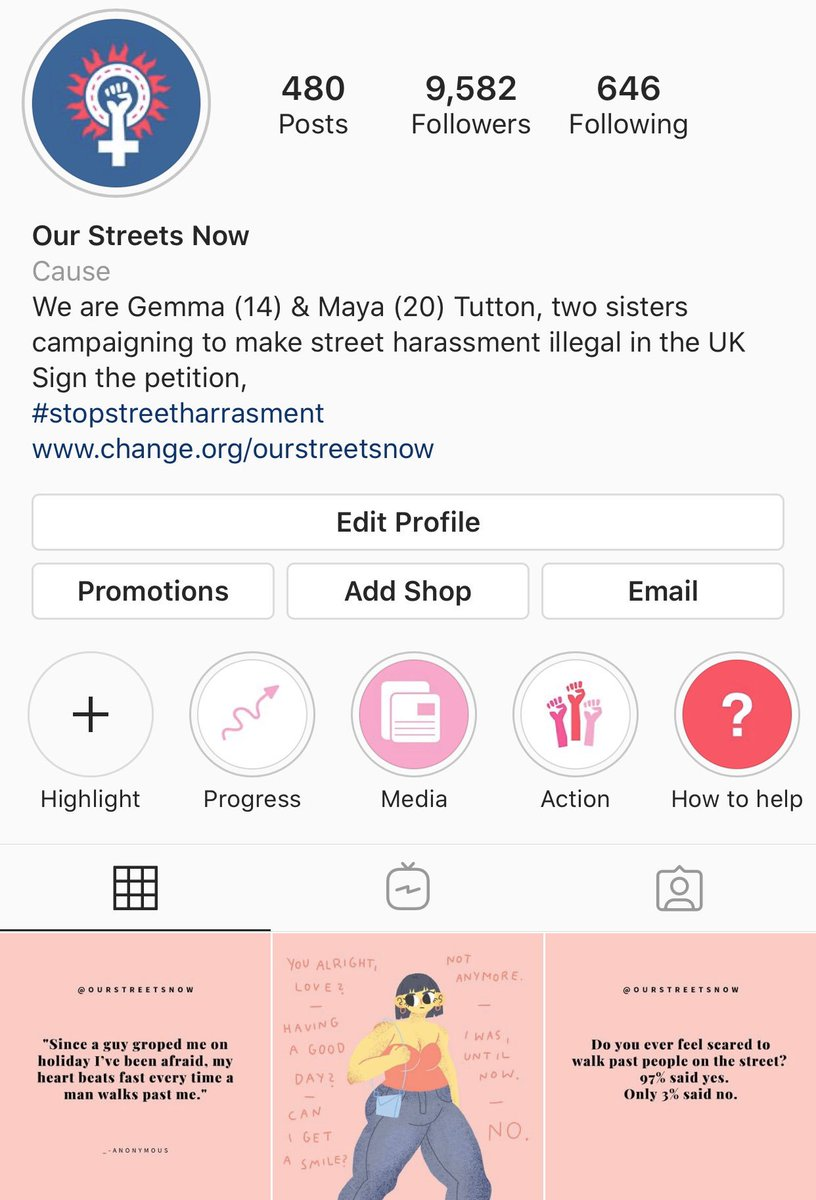Do you follow our Instagram @ourstreetsnow? We post everyday, raising awareness about street harassment and creating a community of supporters who want to join us in the fight to #StopStreetHarassment