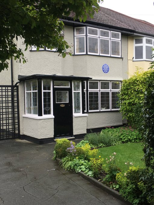 Gone but never forgotten. Happy Birthday John Lennon. The house where he was brought up by Aunty Mimi