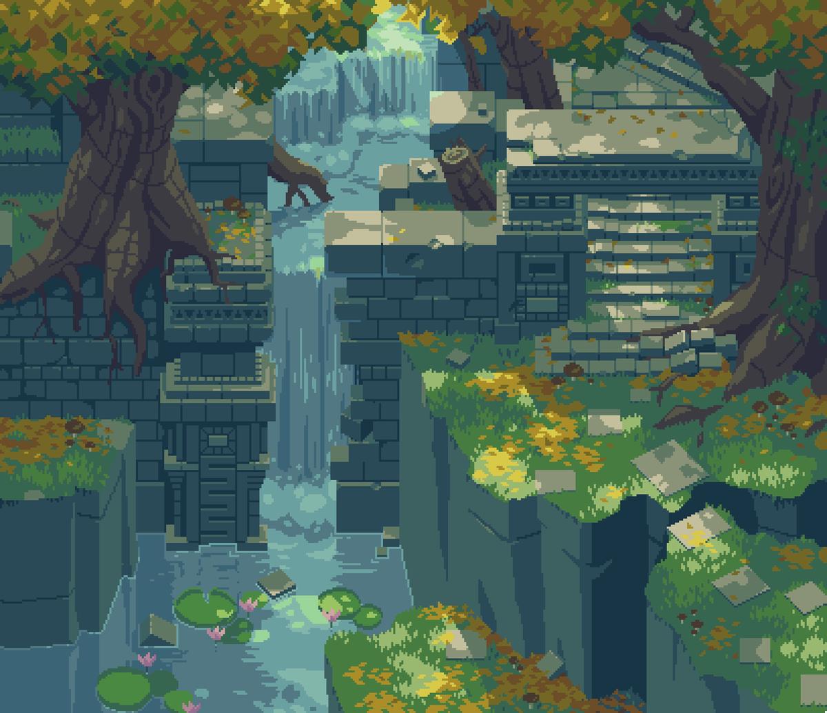 #PortfolioDay again? I'll take it! Pixel artist of overgrown ruins at you service!  https://www. patreon.com/NostalgiaTree      https://www. instagram.com/nostalgictree/    <br>http://pic.twitter.com/kK49uYvk5H