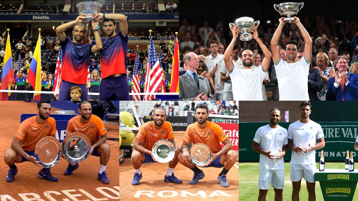 The best in the business 💪   🇨🇴 @juanscabal and @RobertFarah_ have been confirmed as the #ATPTour year-end No. 1 doubles team.