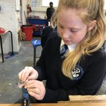 Image for the Tweet beginning: Year 7 Working with Acrylic.